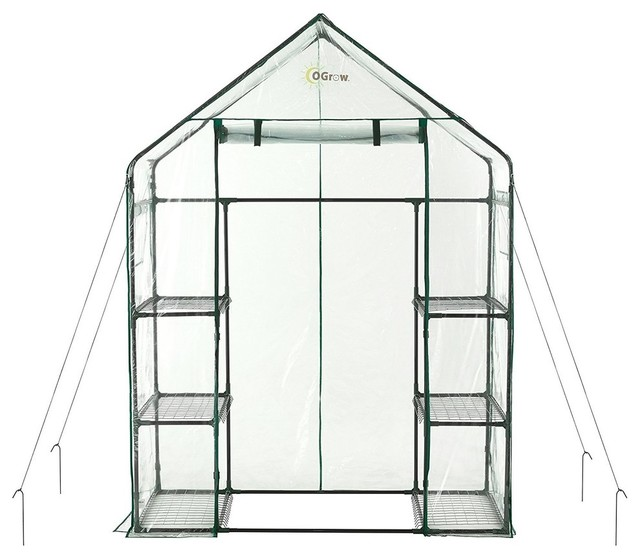 Deluxe Walk-In 3-Tier 6-Shelf Portable Greenhouse.