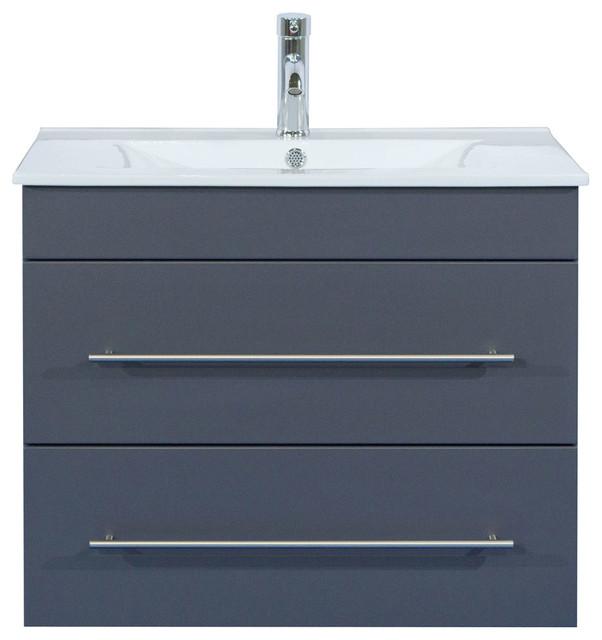 Emotion Casa Infinity 750 Bathroom Furniture, 80 cm, Anthracite Semi-Gloss
