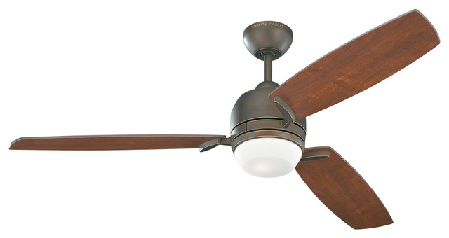 Monte Carlo Fan Company 3mur52rbd Muirfield 1 Light Indoor Ceiling Fans In Roman.
