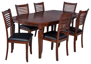 sc 1 st  Buying Guide & Victoria 7-Piece Solid Wood Dining Set Kitchen Table Set Espresso