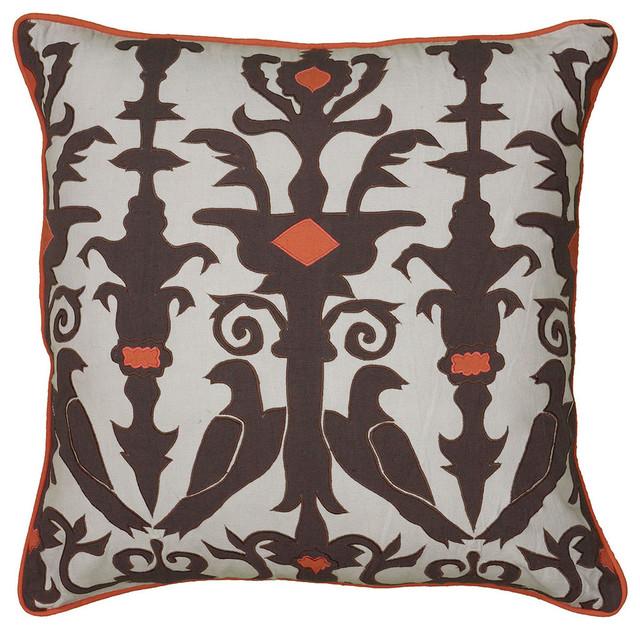 40x40 Gray Decorative Pillow Applique Cotton Embroidery Cording Interesting Decorative Cording For Pillows