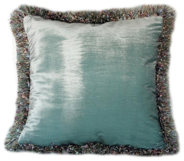 Home Decor 17 x 17 *New* Soft Velvet Emerald Green Shimmer Cushion Covers