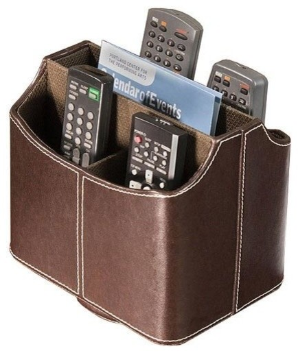 Rotating Remote Control Holder, Brown.