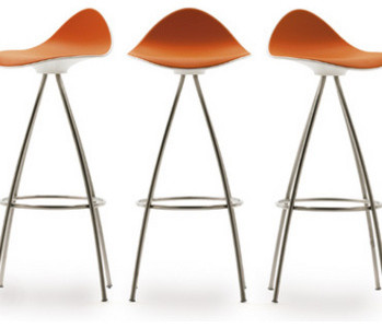 Onda swivel bar stool contemporary bar stools and counter stools by funktionalley - Onda counter stool ...