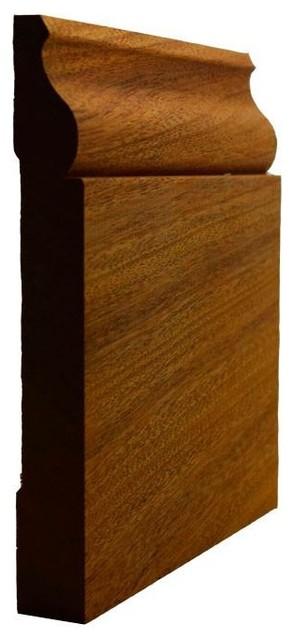 "Baseboard Ewbb12, 11/16""x5 1/4"", Sapele Mahogany, 8&x27;."