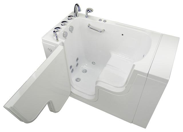 Transfer 32acrylic Hydro And Microbubble Walk-In Bathtub Left Outward Swing Door.