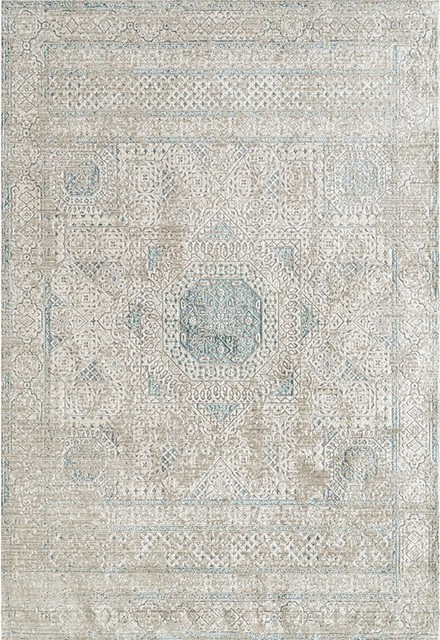 Cambridge 32 Aqua Blue Power-Loomed Area Rug by Amer Rectangle - Contemporary - Area Rugs - by Lighting and Locks