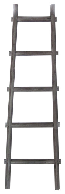 Asher Decorative Reclaimed Barn Wood Ladder, 4&x27;