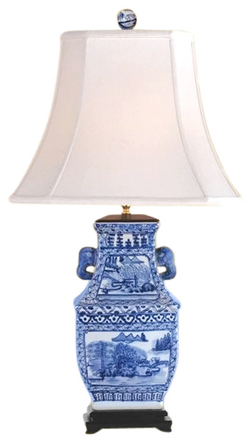 Blue And White Porcelain Candy Box Table Lamp Willow 31