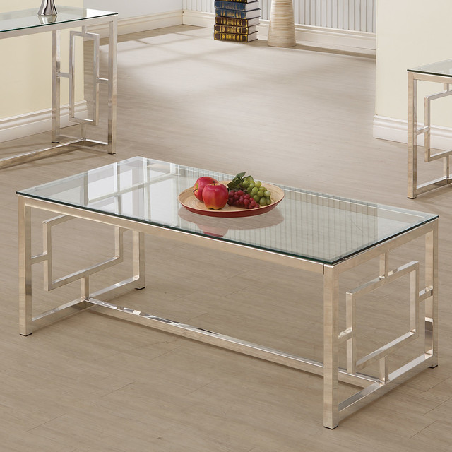 Coaster Coffee Table In Satin Plated Finish 703738.