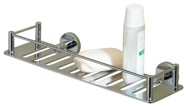 Essentials Rectangular Shower Shelf Polished Nickel