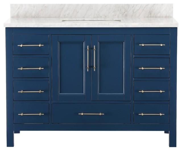 Kendall Blue Bathroom Vanity 48