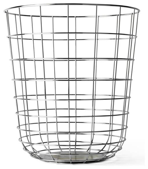 Wire Waste Basket menu wire bin - transitional - wastebaskets -design public