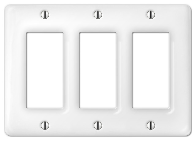 Allena Ceramic 3 Rocker Wall Plate Switch Plates And