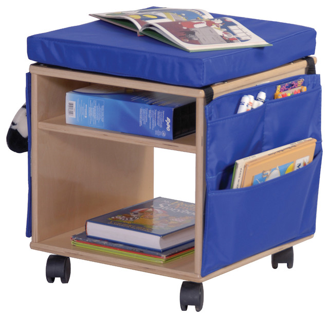 Steffywood Mobile Book Storage Seating Stool contemporary-kids-storage -benches-and-  sc 1 st  Houzz & Steffywood Mobile Book Storage Seating Stool - Contemporary - Kids ... islam-shia.org