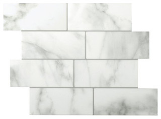 """11.56""""x8.38"""" Metro Carrera Peel and Stick 3D Gel-O Wall Tiles Mosaik, Set of 1"""
