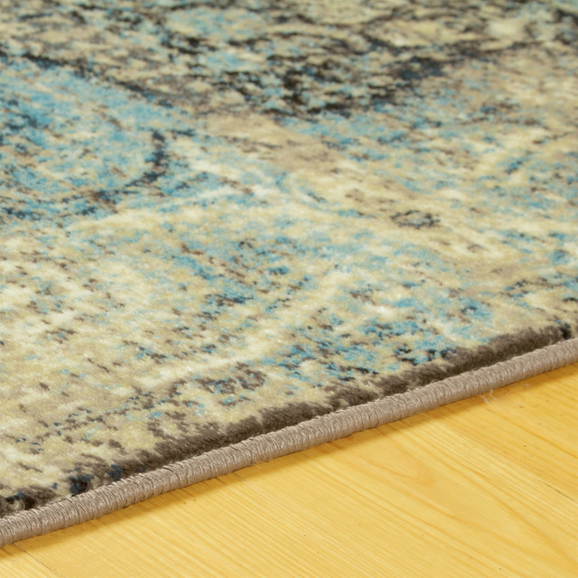 Sidman Vintage Oriental Distressed Area Rug Contemporary Area Rugs By Blue Nile Mills Inc