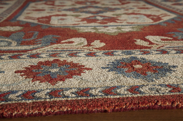 """Tangier Hand-Hooked Rug, Ivory, 7'6""""x9'6"""""""
