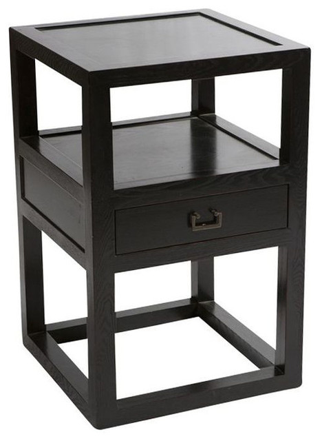 Sold Out Crate Barrel Side Table With Drawer 399 Est