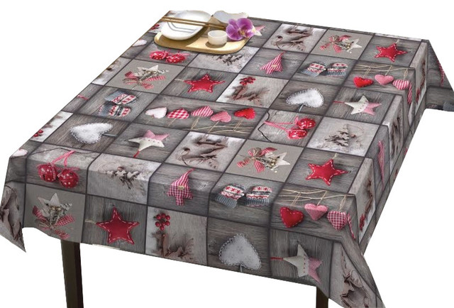 Christmas Collage Tablecloth   Eclectic   Tablecloths   By DREAM U0026 FUN Home  Decor