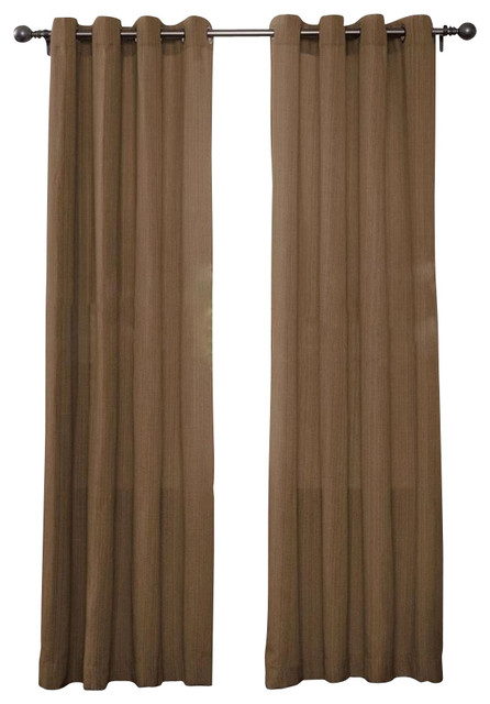 Curtains Ideas brown linen curtains : Shop Houzz | Luxury Home Textiles Set Of 2 Broadway Linen Textured ...