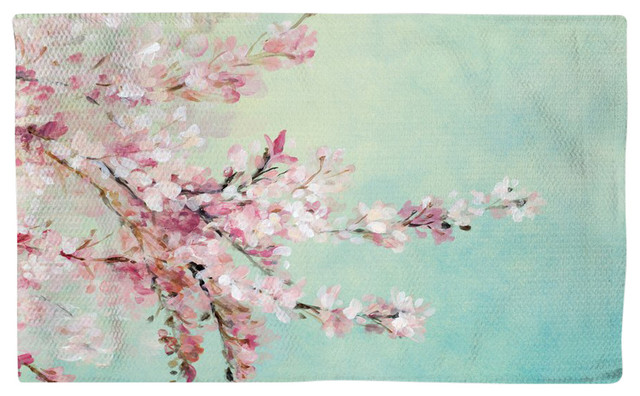 Cherry Blossoms Accent Rug, 4&x27;x6&x27;.