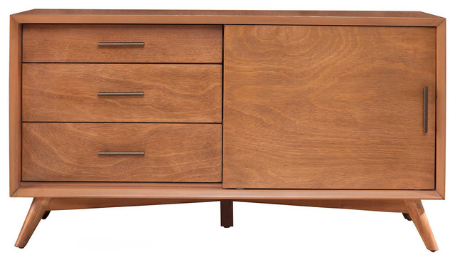 Flynn Tv Console Small Midcentury Entertainment Centers And Stands By Alpine Furniture Inc