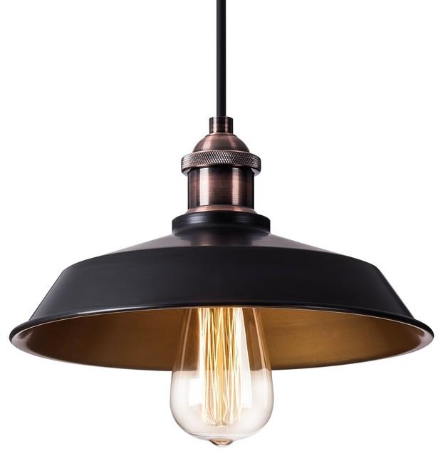 Vintage Style Black Edison Pendant Light, Industrial Lamp