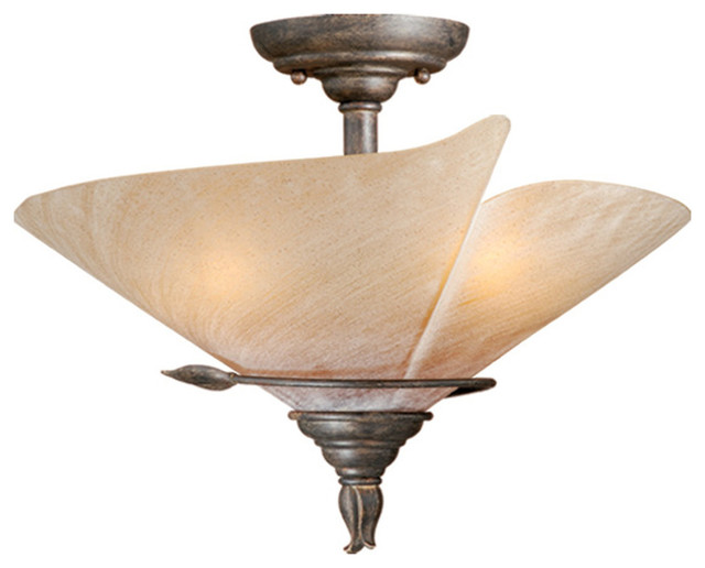 "Capri 15"" Semi-Flush Mount."