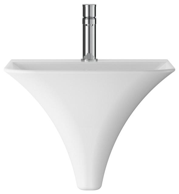Wall-Hung Bathroom Sink, White