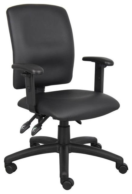 Boss Chairs Boss Multi-Function Fabric Task Chair with Adjustable Arms