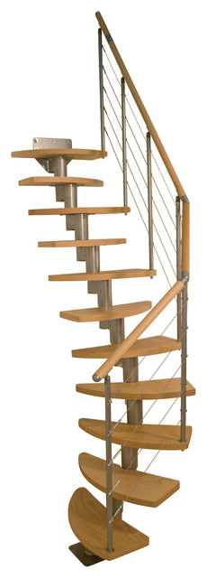 Dolle Rome Modular Staircase Kit, Multiple Layouts, 11-Tread.