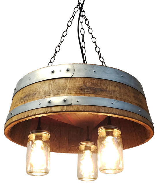 1 4 Wine Barrel Mason Jar Hanging