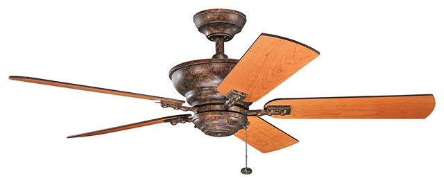 "Kichler Lighting 300243bkz Graystone Berkshire Bronze 52"" Ceiling Fan."