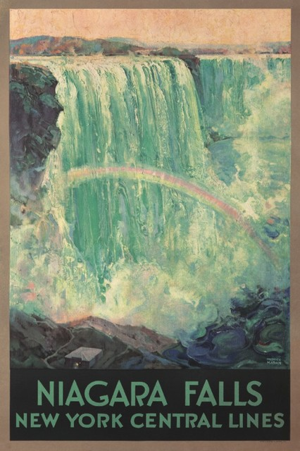 """niagara Falls Central Lines Vintage Poster Usa 1924"" Print, 24""x36""."