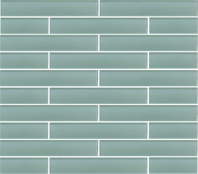 Seafoam Green Glass Subway Tile Contemporary Wall And Floor Tile