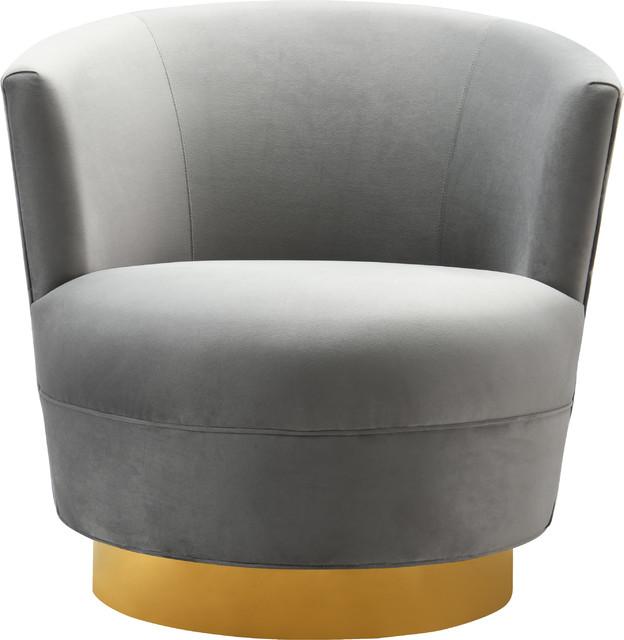 Noah Swivel Chair, Gray