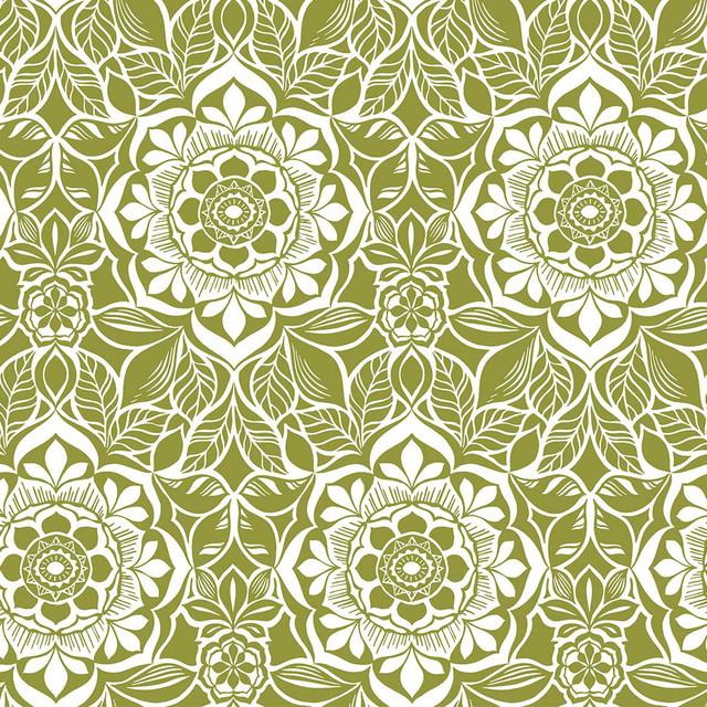Tiki Flowers Wallpaper Tiles