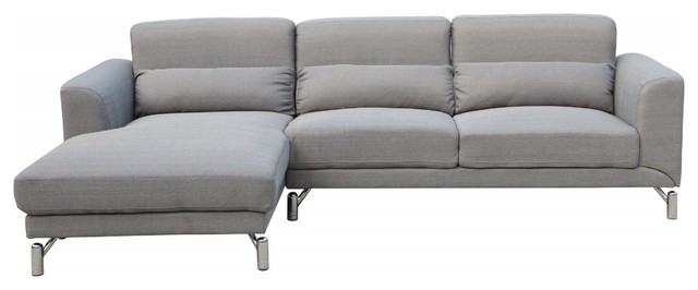 Clarinda Sectional, Silver Gray.