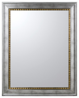 Silver frame wall mirror eclectic wall mirrors by santiago pons - Eclectic picture frame wall ...