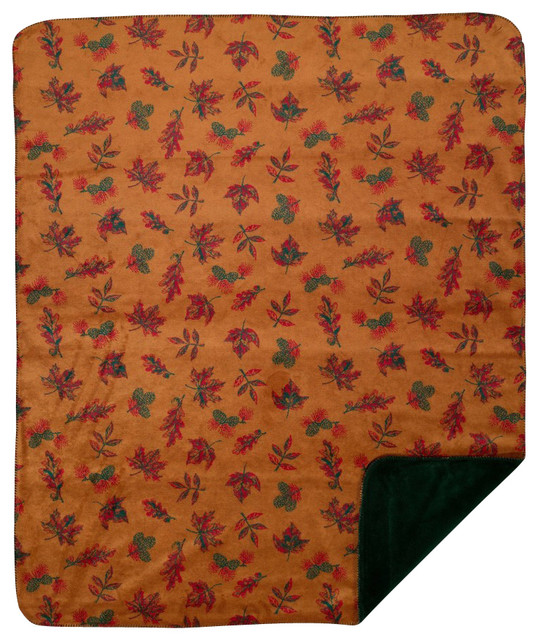 Throw Blanket Denali Falling Leaves Pine Farmhouse
