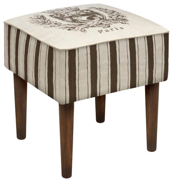 123 creations paris crest modern vanity stool footstools