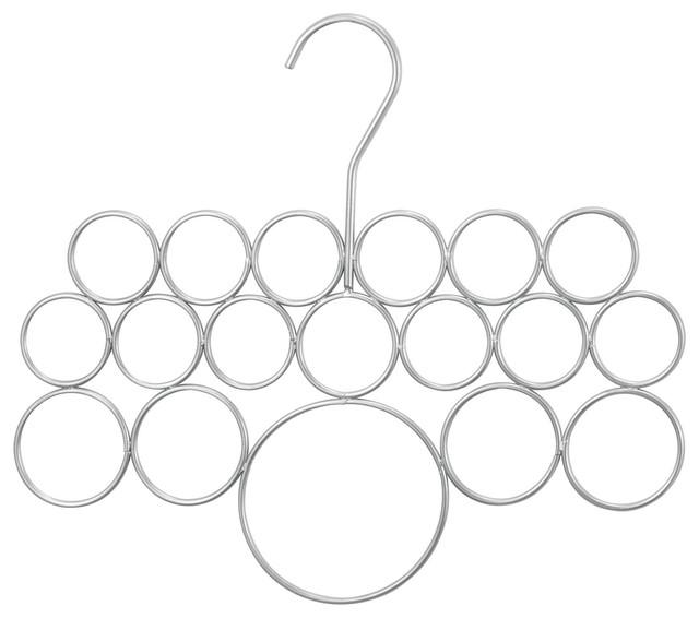 Idesign Scarf Organizer Set Of Three Organizers For Closet Silver