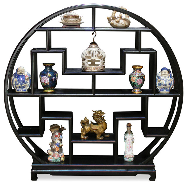 60 Elmwood Moon Curio Stand Asian Home Decor By China