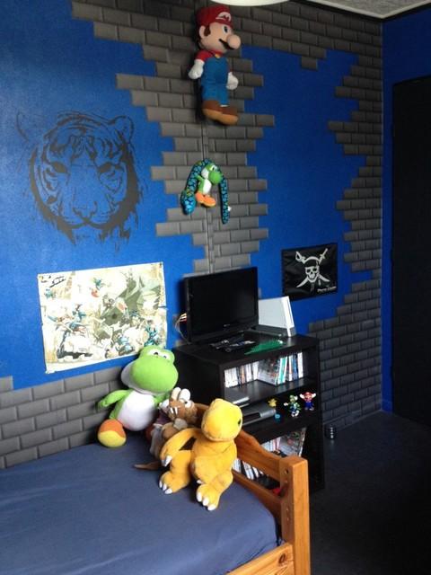 changement de d coration pour une chambre d adolescent th me jeux vid o. Black Bedroom Furniture Sets. Home Design Ideas