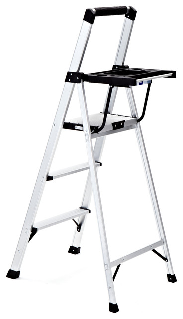 Rubbermaid 3-Step Lightweight Aluminum Step Stool With Oversized Project Tray ladders-and-  sc 1 st  Houzz & Rubbermaid 3-Step Lightweight Aluminum Step Stool With Oversized ... islam-shia.org