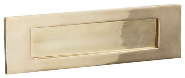 Letter Plate, 300mm, Polished Brass Unlacquered