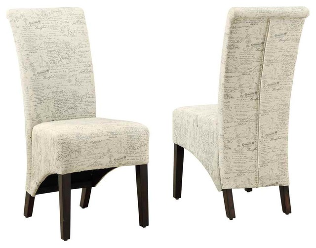 High Back Parson Chair Set of 2 Dining Chairs by ShopLadder