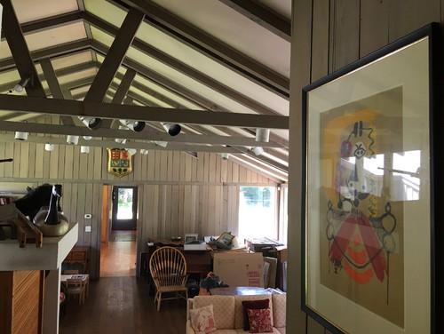 Updating Mid Century Modern Interior High Ceilings Panels