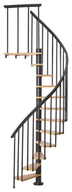 """Dolle Calgary Black 47"""" Staircase With Extra Baluster"""